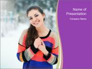 Smiling pretty woman PowerPoint Templates