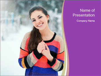 Smiling pretty woman PowerPoint Template - Slide 1