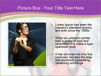 Smiling pretty woman PowerPoint Template - Slide 13