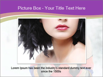 Smiling pretty woman PowerPoint Template - Slide 15