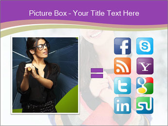 Smiling pretty woman PowerPoint Template - Slide 21