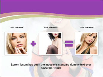Smiling pretty woman PowerPoint Template - Slide 22