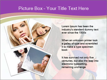 Smiling pretty woman PowerPoint Template - Slide 23
