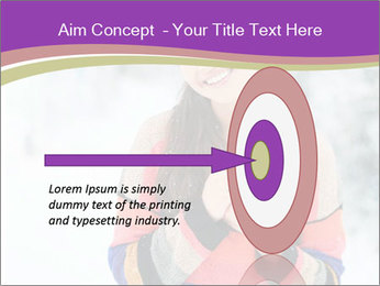 Smiling pretty woman PowerPoint Template - Slide 83