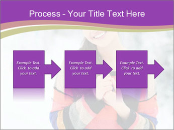Smiling pretty woman PowerPoint Template - Slide 88