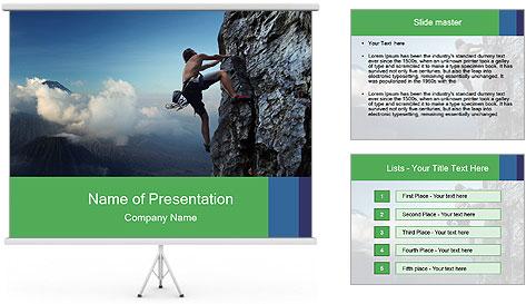 Climber PowerPoint Template