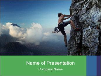 Climber PowerPoint Template - Slide 1