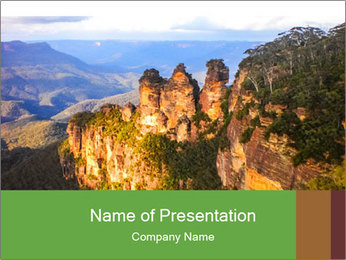 Three sister rock PowerPoint Template