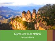 Three sister rock PowerPoint Templates