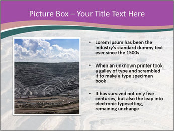 Close up of quarry extracting iron PowerPoint Template - Slide 13