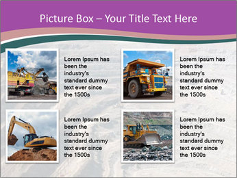 Close up of quarry extracting iron PowerPoint Template - Slide 14