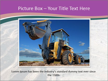 Close up of quarry extracting iron PowerPoint Template - Slide 15
