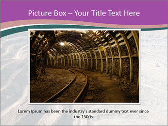 Close up of quarry extracting iron PowerPoint Template - Slide 16