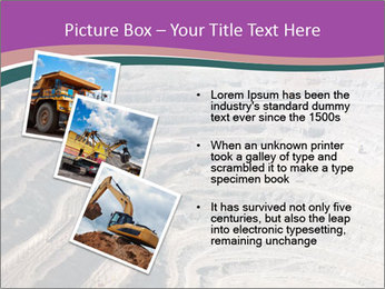 Close up of quarry extracting iron PowerPoint Template - Slide 17