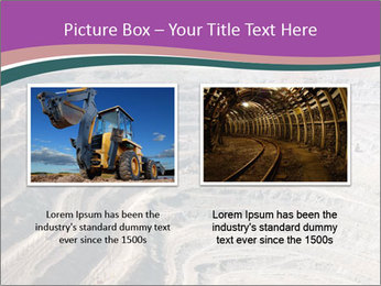 Close up of quarry extracting iron PowerPoint Template - Slide 18