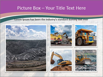 Close up of quarry extracting iron PowerPoint Template - Slide 19