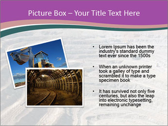 Close up of quarry extracting iron PowerPoint Template - Slide 20