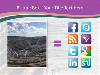 Close up of quarry extracting iron PowerPoint Template - Slide 21