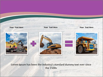 Close up of quarry extracting iron PowerPoint Template - Slide 22