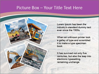 Close up of quarry extracting iron PowerPoint Template - Slide 23