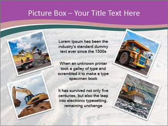 Close up of quarry extracting iron PowerPoint Template - Slide 24