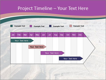 Close up of quarry extracting iron PowerPoint Template - Slide 25
