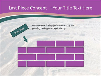 Close up of quarry extracting iron PowerPoint Templates - Slide 46