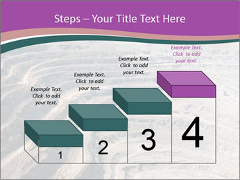Close up of quarry extracting iron PowerPoint Template - Slide 64