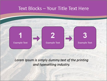 Close up of quarry extracting iron PowerPoint Template - Slide 71