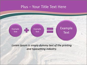Close up of quarry extracting iron PowerPoint Template - Slide 75