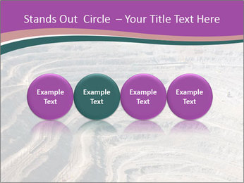 Close up of quarry extracting iron PowerPoint Templates - Slide 76
