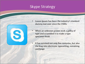 Close up of quarry extracting iron PowerPoint Template - Slide 8