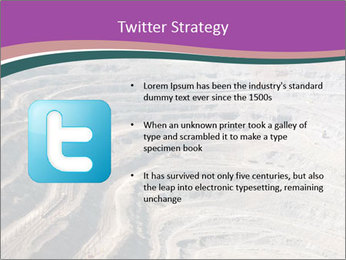 Close up of quarry extracting iron PowerPoint Template - Slide 9