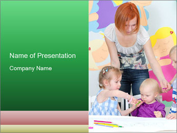 Children drawing PowerPoint Template - Slide 1