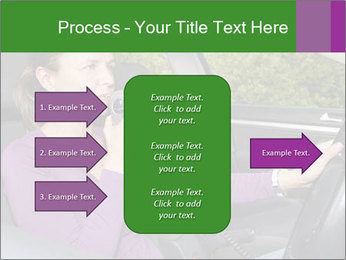 Woman in car PowerPoint Templates - Slide 85