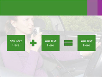 Woman in car PowerPoint Templates - Slide 95