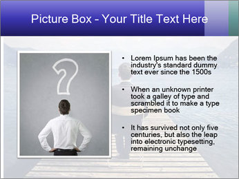 Businessman Sitting on Pier PowerPoint Template - Slide 13