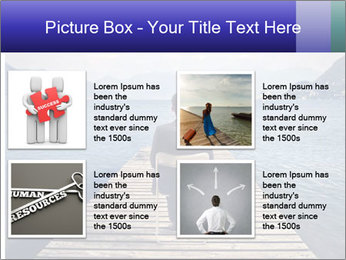 Businessman Sitting on Pier PowerPoint Template - Slide 14