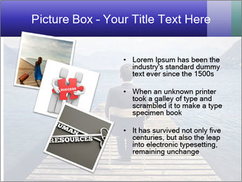 Businessman Sitting on Pier PowerPoint Template - Slide 17