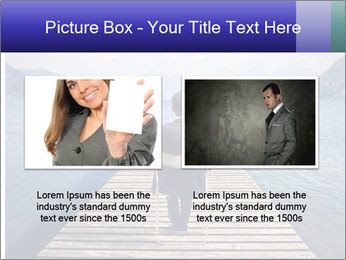 Businessman Sitting on Pier PowerPoint Template - Slide 18