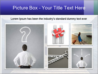 Businessman Sitting on Pier PowerPoint Template - Slide 19