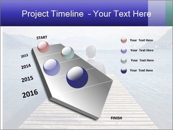 Businessman Sitting on Pier PowerPoint Template - Slide 26