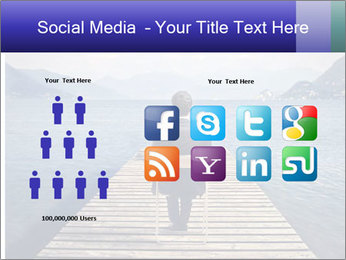 Businessman Sitting on Pier PowerPoint Template - Slide 5