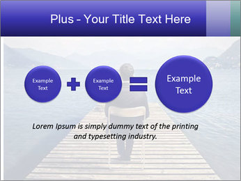 Businessman Sitting on Pier PowerPoint Template - Slide 75