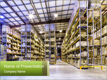 Factory Stock PowerPoint Template - Slide 1