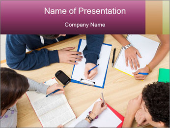 Students Make Notes PowerPoint Template