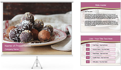 Plate With Truffles PowerPoint Template