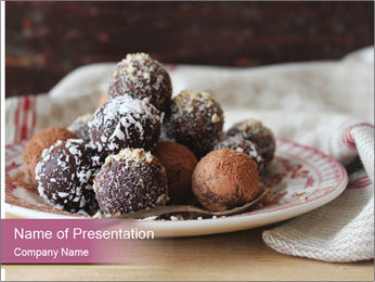 Plate With Truffles PowerPoint Template - Slide 1