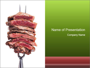 Sirloin Steak PowerPoint Template - Slide 1