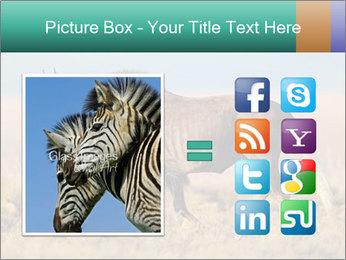 Male black wildebeest PowerPoint Template - Slide 21